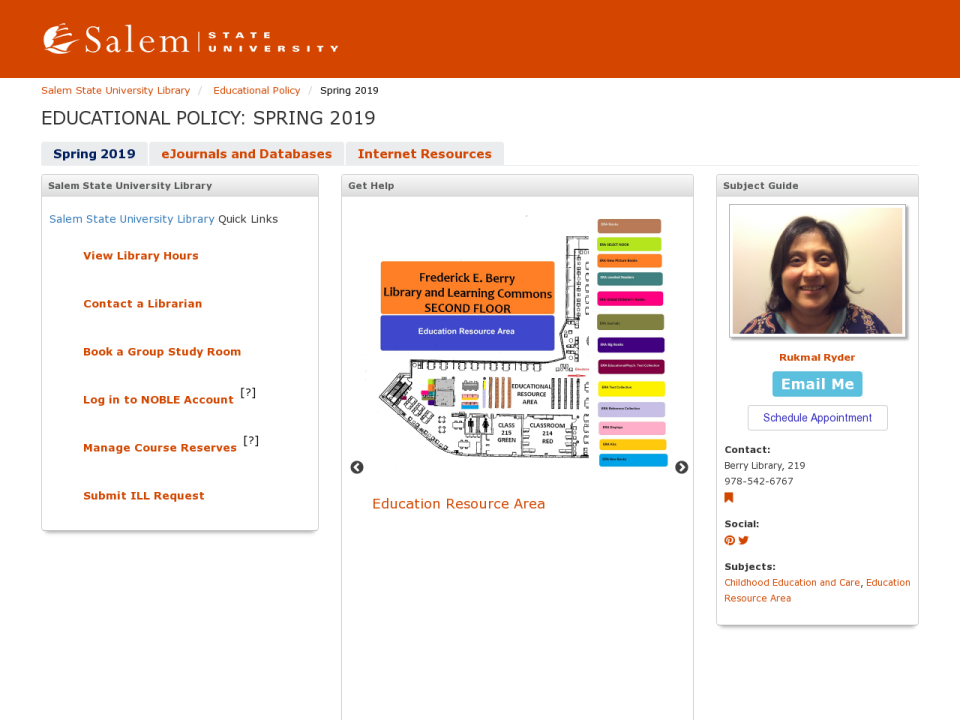 Educational Policy LibGuide for policy resources